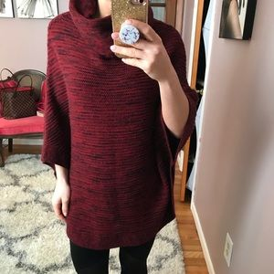 Merona XS/S red sweater/poncho with arm openings